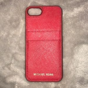 Michael Kors red iPhone 7 leather case!